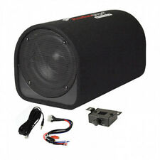 "NEW 8"" Powered Bass Tube Subwoofer.built in Amplifier.Car Audio Loaded Sub box."