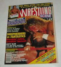 1986 WRESTLING SCENE MAGAZINE BLOODY FACE COVER MIDNIGHT EXPRESS IVAN PUTSKI