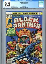 Black Panther #6 CGC 9.2 OW-White Pages Kirby Cover & Art Marvel Comics 1977