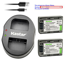 Kastar Battery Dual USB Charger for Sony NP-FP50 NP-FP51 Sony DCR-HC41 DCR-HC42
