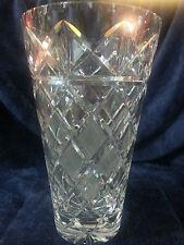 Large Vintage Cut Glass Vase