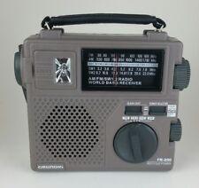Grundig FR-200 Emergency Hand Cranked Compact Radio AM/FM/SW1/SW2 w/ Light