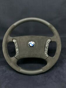 BMW E38 E39 5 7 SERIES STEERING WHEEL ALCANTARA LEATHER MULTIFUNCTION OEM