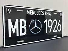 mercedes benz license plate Vintage Reproduction Garage Sign Decor