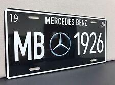 mercedes benz license plate Vintage Reproduction Garage Sign Decor