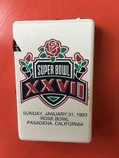 Super Bowl XXVII AFC Football Cards Sealed And Hand Held Radio 1993 Souvenirs