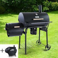 RAMROXX® BBQ XL Smoker Holzkohle Barbecue Grill RX950 Schwarz mit Abdeckung