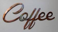 Coffee  Metal Wall Art Accent  Copper/Bronze