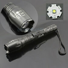 Rattlesnake CREE XML-T6 1600 LM LED Flashlight Zoomable Torch Light 5 Modes
