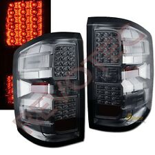 14-18 Chevy Silverado 1500 LT LTZ 15-18 2500HD 3500HD Smoke LED Tail Lights