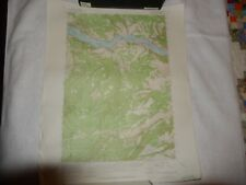 Vintage 1957 USGS Topographic Map White Salmon Oregon Metsker  Columbia River