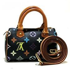 Louis Vuitton Mini Speedy Monogram Multicolor Black Hand Tote Bag M92644  Used e9a668a038735