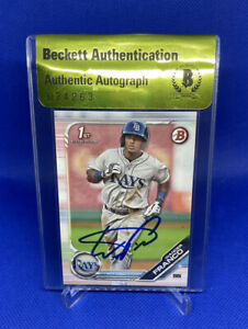 2019 Bowman #BP-100 Wander Franco 1st RC IP Auto Beckett BGS Certified Authentic