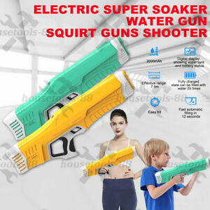 Super Shooters Large Electric Water Gun Summer Blaster Super Soaker Game Toys AU