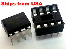 AD620 AD620AN DIP-8 Instrumentation Amplifier w/ socket IC Arduino Ships from US