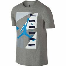 NEW NIKE JORDAN 92 RETRO MEN'S BASKETBALL T-SHIRT JUMPMAN GREY BLUE WHITE TEE L