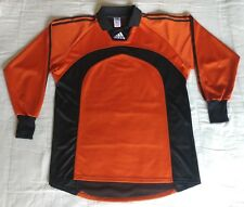 Vintage Adidas Goalkeeper Football Jersey Orange Soccer Trikot Shirt Size L Top
