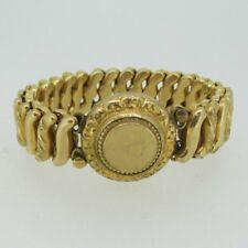 Vintage Gold Tone Sweetheart Expandable Round Bracelet