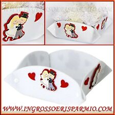 Cesto CESTINO cesta porta confetti confettate matrimonio sposini cuore bianco