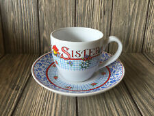"""Mary Engelbreit Time For Tea Cup & Saucer w/Box """"Be Kind to Thy Sister"""""""