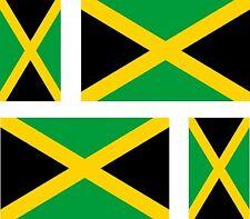 4x jamaica jamaican flag decals sticker bike scooter car vinyl luggage helmet