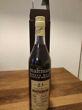 Springbank 23 Years 1992 Maltman 700ml sealed and collectible condition