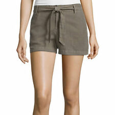 a.n.a Tape Belted Twill Shorts Size 4, 8, 10, 12, 14, 16 Msrp $36.00 Green Stone