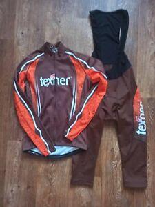 CYCLING SHIRT JERSEY JACKET 1/2 PANTS SET MAGLIA TRIKOT TEXNER SIZE M/L