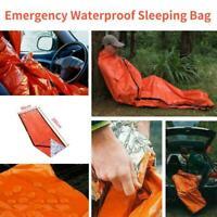 Emergency Sleeping Bag Thermal Waterproof Survival Camping Outdoor Travel Bag