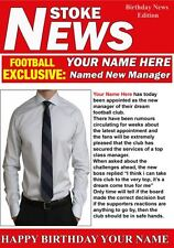 A5 Personalised Stoke  Football Manager News PIDH1 Greeting Birthday