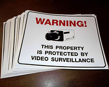 LOT HOME STORE SECURITY SURVEILLANCE CAMERA ALARM SYSTEM PLASTIC WARNING SIGNS