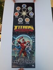 AWESOME CHUCK TV SHOW PROP POSTER TITANS TOGETHER ZACHERY LEVI APARTMENT