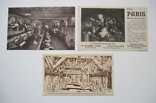 THREE old San Francisco Restaurant Postcards Interiors Early UNIQUE Restaurants