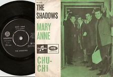 THE SHADOWS MARY ANNE & CHU-CHI DANISH 45+PS 1965 MARVIN WELCH CLIFF RICHARD