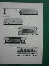 1960'S PUB FIAT FIAT 500 FIAT 1100 1300 1500 1800B 2300 GERMAN CAR AUTOS AD
