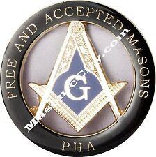Z-17 Black/Blue PHA Masonic Auto Emblem FreeMasonry Car Lodge Mason