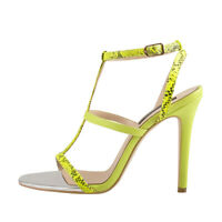 Onlymaker Women's Sexy Open Toe Ankle T-Strap Stiletto High Heel Sandals Shoes