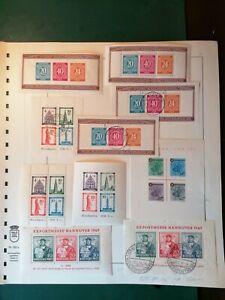 Briefmarkensammlung französische Zone und Bi-Zone je fast komplett