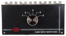 NEW 5 RCA Input Source Audio Selector.Stereo Switch Inputs.change Amplifier.CD.