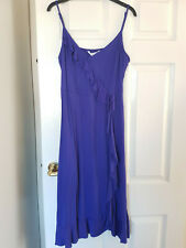RED HERRING BLUEY/PURPLE STRAPPY DRESS X OVER WITH FRILL DETAIL SIZE 14 - BNWT!