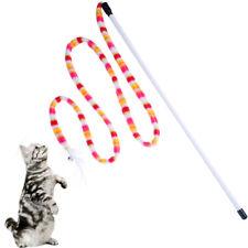Funny Cat Toy Kitten Pet Stick Teaser Rainbow Interactive Play Wand With FeaYjen