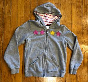 Hanna Andersson Zipped Hooded Sweatshirt - Girls 150 US 12