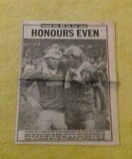 210) 1984 milk cup final echo souvenir pull out Liverpool v Everton