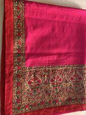 Fuschia Designer Silk Saree With Kashmiri Work Pallu Border Blouse Piece Diwali