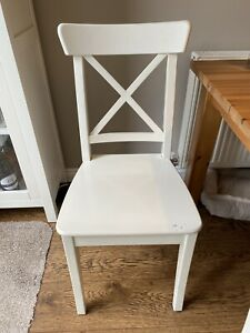 IKEA INGOLF Chairs - White - Set Of 4 Good Condition