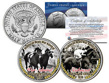 SEABISCUIT BEATS WAR ADMIRAL Match Race JFK Half Dollar 2-Coin Set Horse Racing