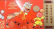 1995 Singapore 1c-$5  UNC coin set ( Hongbao Pack )