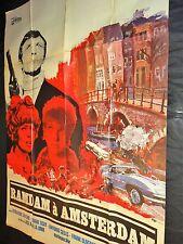 RAMDAM A AMSTERDAM  affiche cinema  cars espionnage 1968