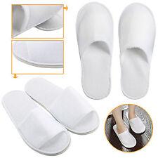 5 Pares Blanco Abrir /Cerrado Dedo Del Pie Hotel Zapatillas Zapatos Desechables