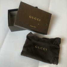 Authentic GUCCI Empty Box and storage bag USED From Japan Blotted  [Y]